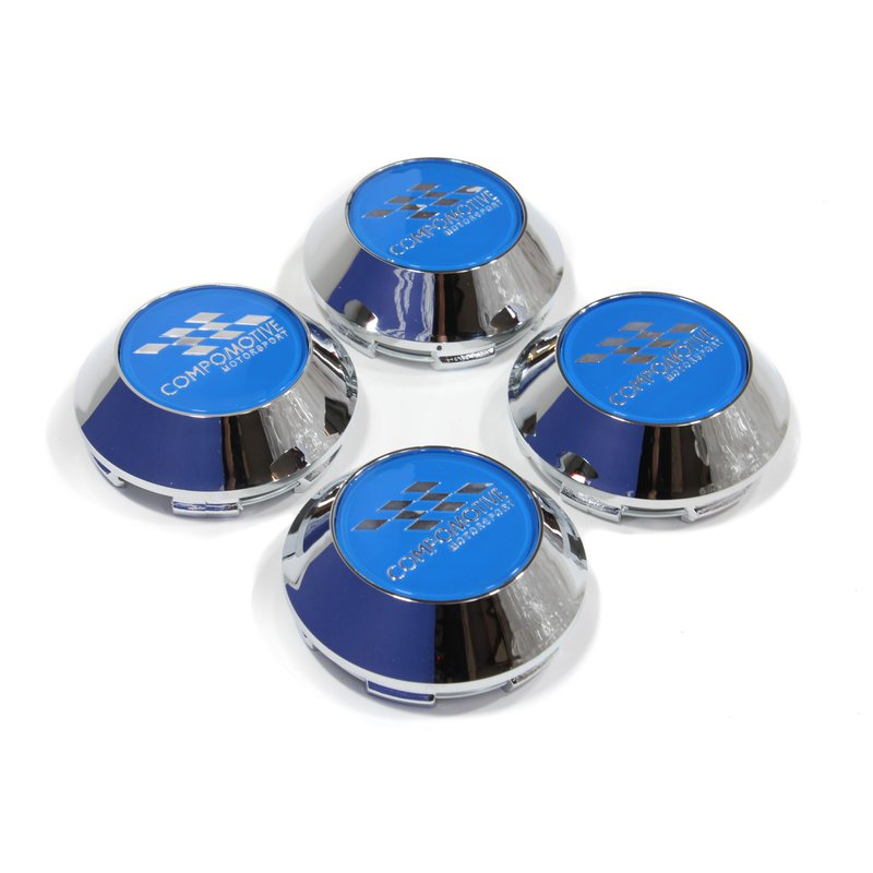 Lowered Blue Chrome Plastic Cap - 62mm x 4