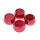 Red Anodised Alloy Caps - 62mm x 4 (for pre 2014 wheels)