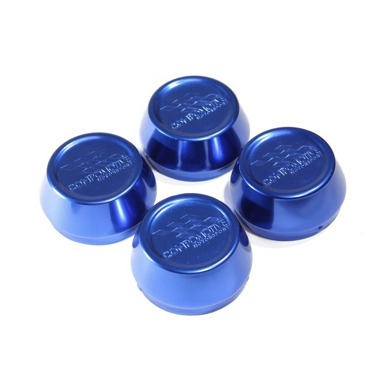 Blue Anodised Alloy Caps - 62mm x 4 (for pre 2014 wheels)
